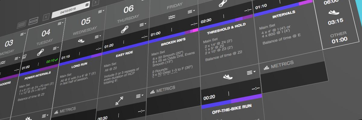TriDot Training Calendar